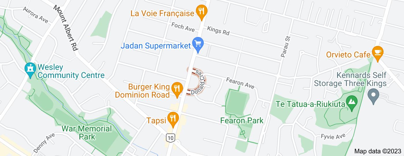 Location of Donald Crescent