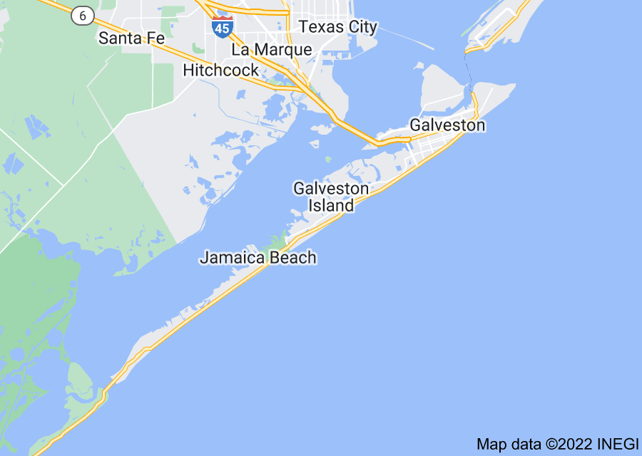 Location of Galveston Island