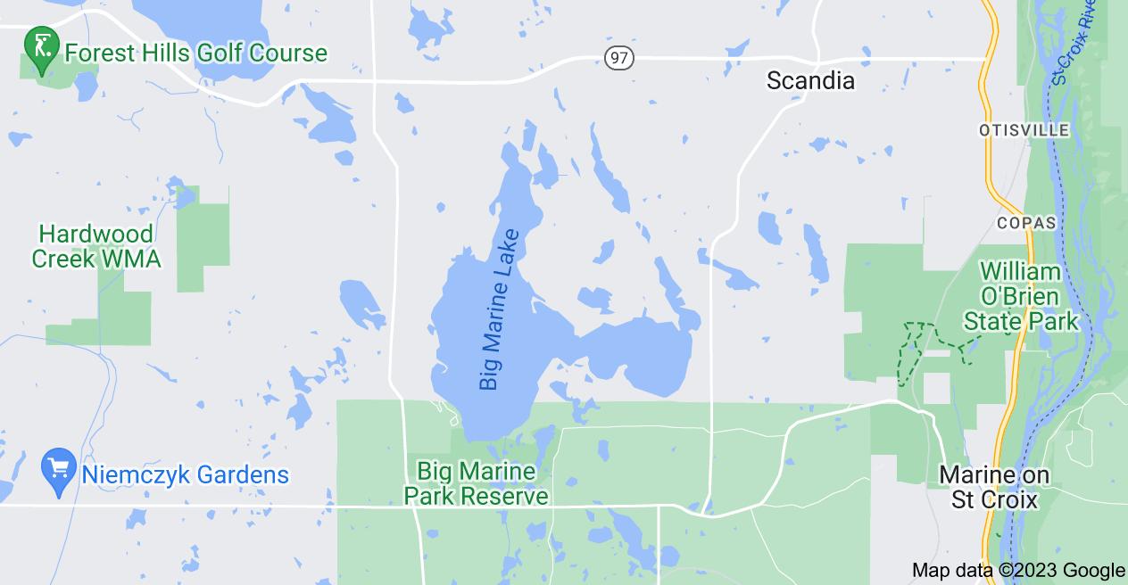 Map of Big Marine Lake, Minnesota 55047