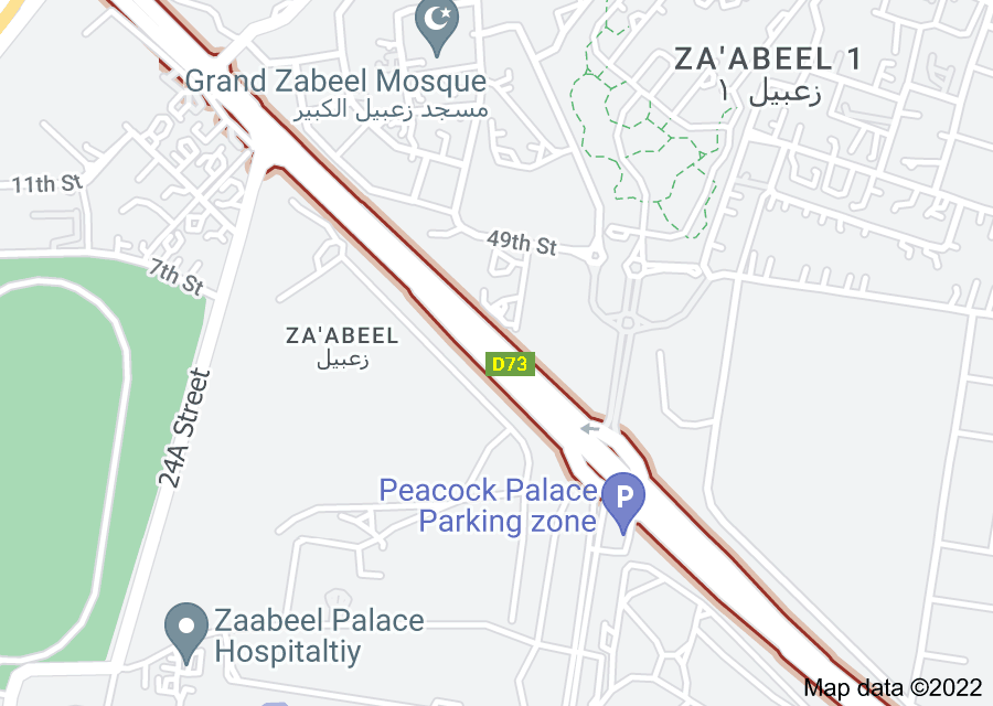 Location of D 73 road