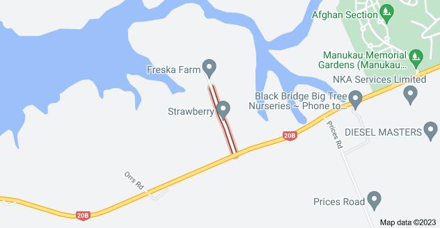 Location of Campana Road