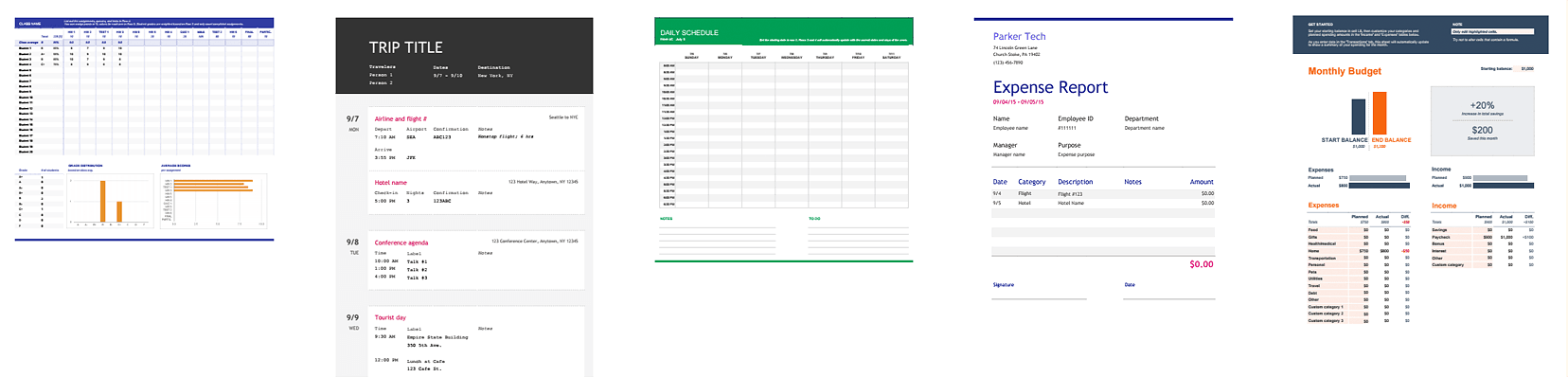 Google Sheets Template