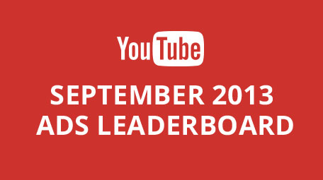YouTube Ads Leaderboard September 2013